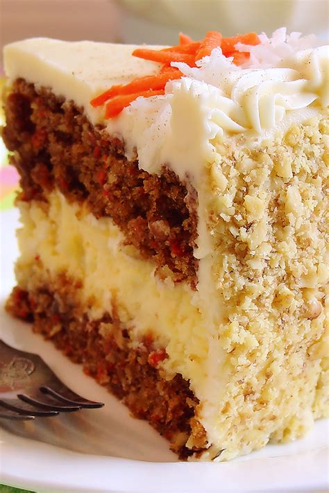 carrot cake cheesecake cake bakery style wicked good