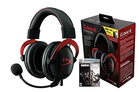 siege amazon hyperx cloud ii rainbowsix siege gaming headset 1