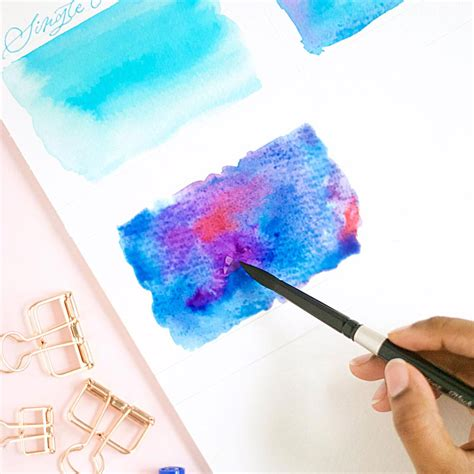 Watercolor Wash Using Tombow Brush Pens