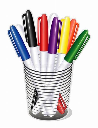 Pens Marker Tip Clip Clipart Vector Illustrations