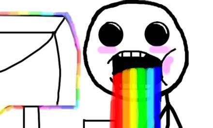 Drooling Meme - drooling rainbow meme