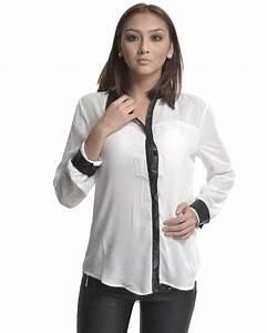 Chemise Noir Et Blanc : chemise femme noire et blanche le son de la mode ~ Nature-et-papiers.com Idées de Décoration