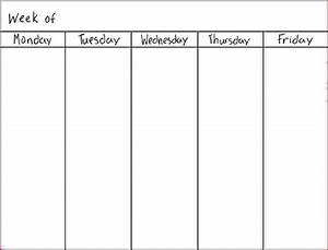 5 day weekly calendar template online calendar templates for Free 5 day calendar template