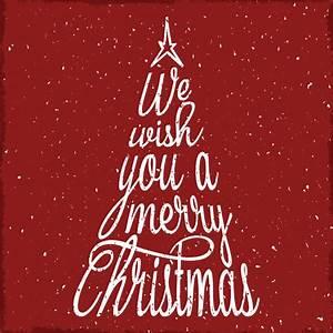 Merry Xmas Schriftzug : vintage schrift weihnachtsbaum tannenbaum merry christmas ~ Buech-reservation.com Haus und Dekorationen
