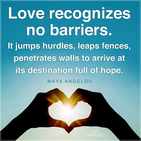love recognizes  barriers  daily verse