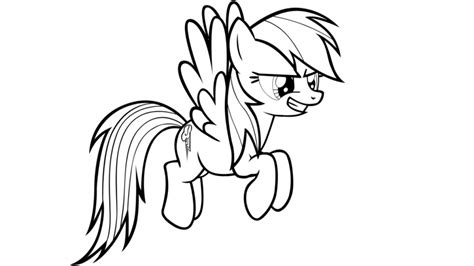 rainbow dash coloring page coloring home