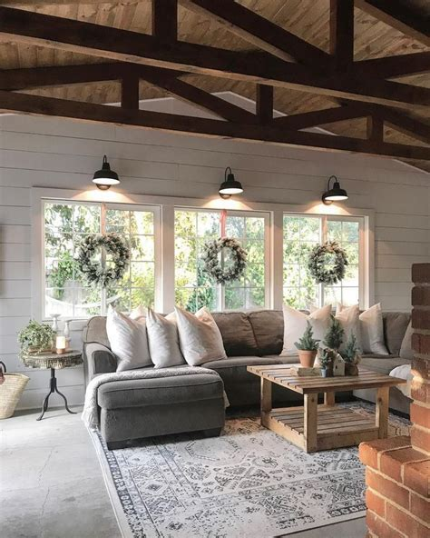 Living Room  Beautiful Farmhouse Decor…  The Inspired