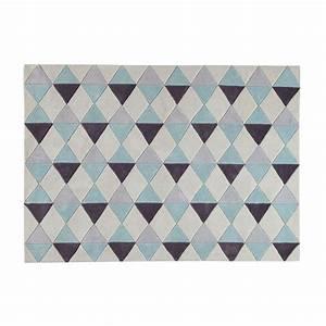 Tapis Style Scandinave : tapis poils courts bleu 140 x 200 cm tapis maison du monde et le monde ~ Teatrodelosmanantiales.com Idées de Décoration