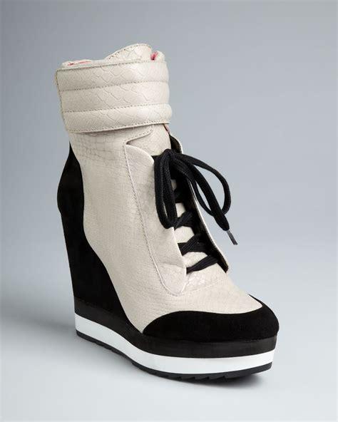 sneaker wedges sneaker wedges lyst boutique 9 high top wedge sneaker booties whispers
