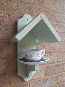 Tea Cup Bird Feeder – Vintage Cup and Saucer, Bird Feeder