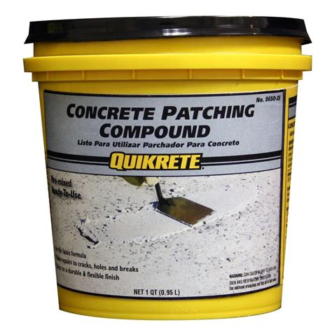 Concrete Floor Patching Compound by Quikrete 1 Qt Concrete Patching Compound 8650 35 The