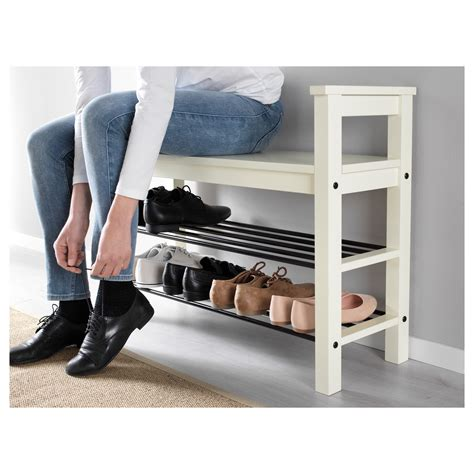 shoe rack bench hemnes bench with shoe storage white 85x32 cm ikea