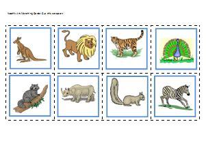 noahs ark matching cards prekinders