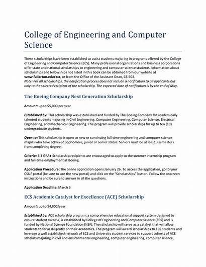 Scholarship Essay Sample Engineering Template Essays Nursing