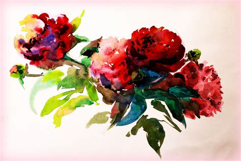 watercolor painting picture paint flower creativity