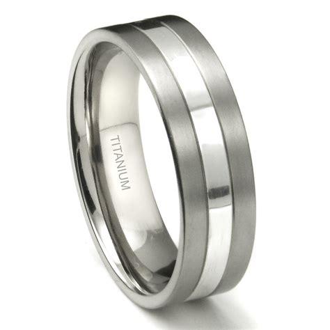 wedding rings titanium titanium 7mm two tone wedding ring