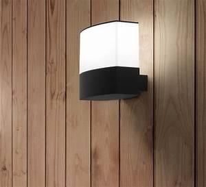 Luminaire Exterieur Design : applique murale d 39 ext rieur datna noir et blanc h19cm ~ Edinachiropracticcenter.com Idées de Décoration