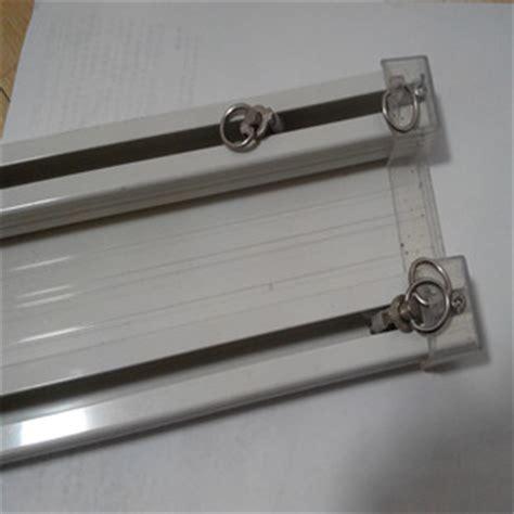 aluminum track single pole bending mute slide rail