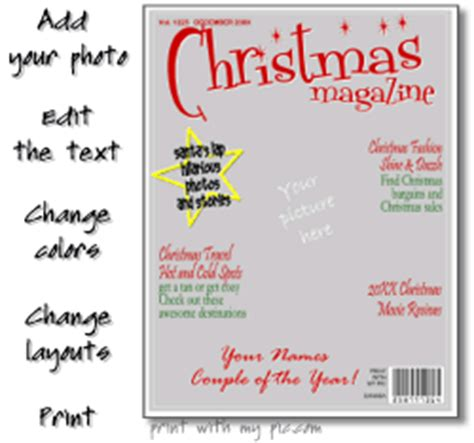 Times Magazine Christmas Cover Template by Magazine Cover Templates Printable Magazine Photo Frames