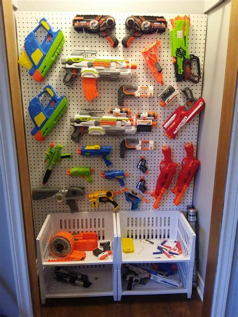 More than 8 nerf gun organizer at pleasant prices up to 85 usd fast and free worldwide shipping! Pin on Pegboard Organization