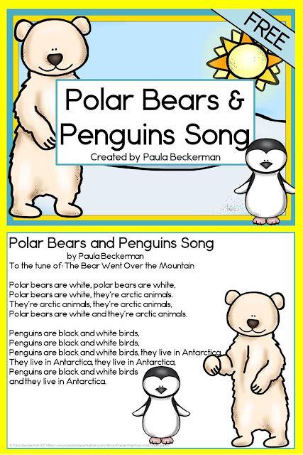 paula s primary classroom polar bears 838   polar%2Bbears%2Band%2Bpenguins%2Bsong%2Blarge%2Bpin