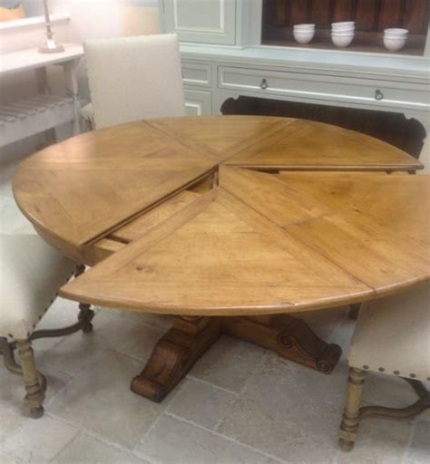 extendable solid wood distressed dining table