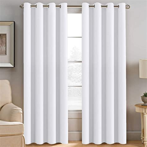 best white curtains 84 inches for living room