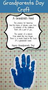 Template Questionnaire Easy Grandparents Day Crafts For Kids Handprint Craft