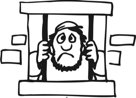 Joseph In Prison Free Colouring Pages