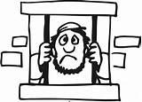 Jail Joseph Coloring Sheet Pentateuch Genesis Template Sketch sketch template