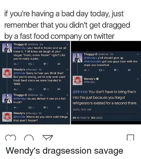 Funny Fast Food And Wendys Memes Of 2017 On Sizzle