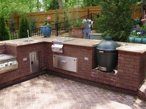 outdoor kitchen with big green egg big green egg built in rugged liferugged 9025