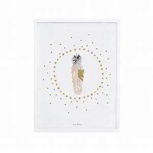 affiche chambre d39enfant plumes et etoiles lilipinso With affiche chambre bébé avec écharpe fleurie