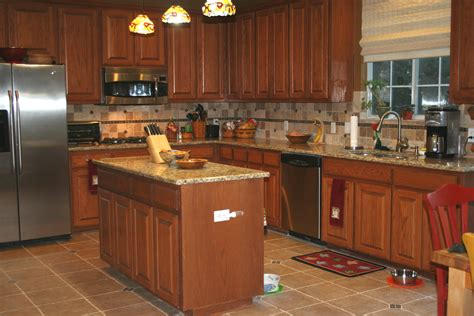 back splash designs for kitchen with beige and brown