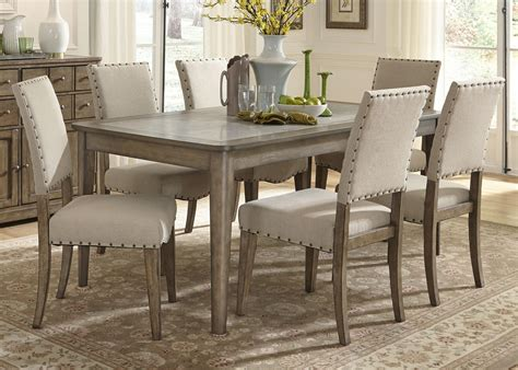 liberty furniture weatherford casual rustic  piece dining