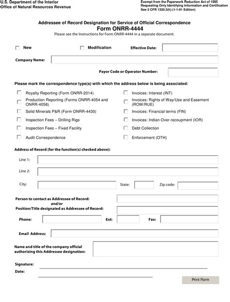 Form Onrr 4444 Download Fillable Pdf Or Fill Online