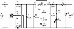 Car Battery Charger Based 7812 Circuit