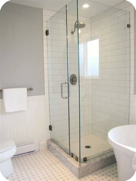 bathroom subway tile my house of giggles white and grey bathroom renovation
