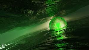 3d, Green, Sphere, Water, Hd, Abstract, Wallpapers