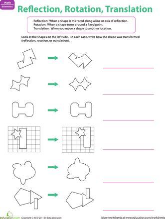 reflection rotation translation mathematics
