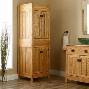 "72"" Mission Linen Cabinet - Bathroom"