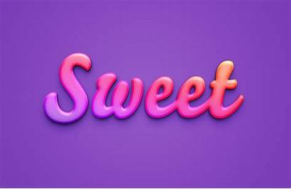 Text Sweet Effect Photoshop Effects Src Styles