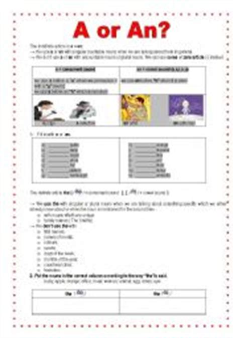 Indefinite And Definite Articles  Esl Worksheet By Sucarv