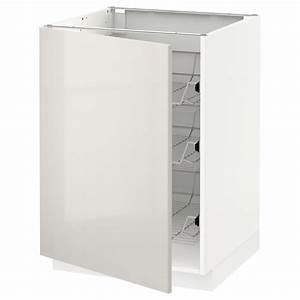 Ikea Metod Unterschrank : metod unterschrank mit drahtk rben wei ringhult ~ Watch28wear.com Haus und Dekorationen