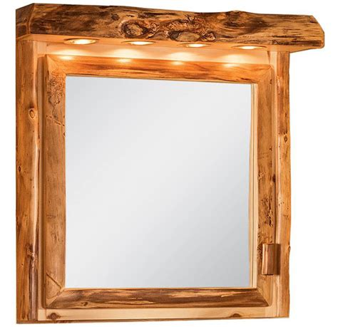 Rustic Medicine Cabinets For The Bathroom by Rustic Medicine Cabinet W Led Light Bar The Log