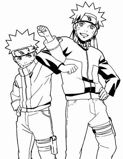 Naruto Coloring Coloriage Manga Printable Desenhos Sasuki