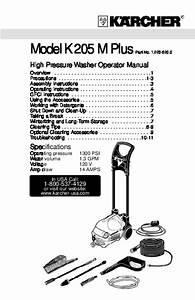 K U00e4rcher K 205 M Plus Electric Power High Pressure Washer