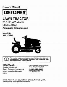 Lawn Tractor Owner U0026 39 S Manual