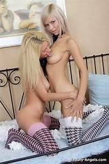 Girls two blonde teens in
