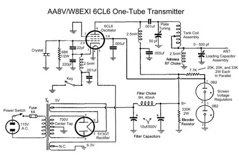 aavwexi cl  tube transmitter schematic